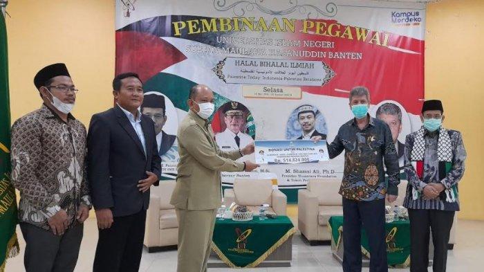 Galang Dana untuk Palestina, Halal Bihalal UIN Sultan Maulana Hasanuddin Kumpulkan Rp 619 Juta