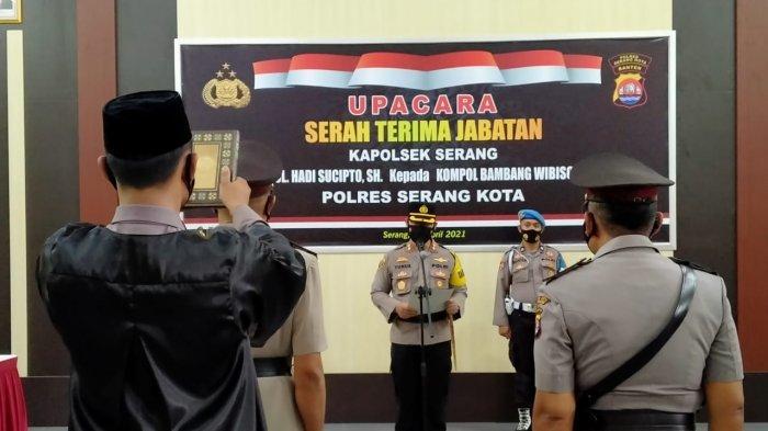 Kompol Bambang Wibisono Resmi Jabat Kapolsek Serang, Antisipasi Teror Jadi Fokus Utama