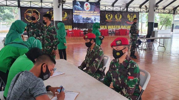 Keluarga Besar Tentara Grup 1 Kopassus Gelar Vaksinasi Covid-19 Tahap Pertama, Diikuti 437 Orang