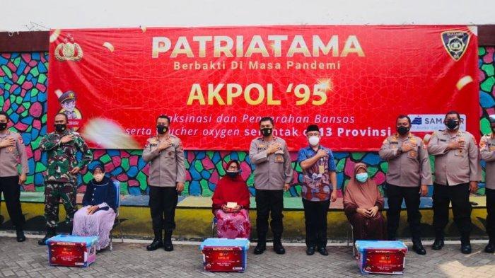 Akpol 1995 Gelar Vaksinasi Covid-19 di SMKN 1 Kota Serang, Siswa juga Dapat Voucher Belanja