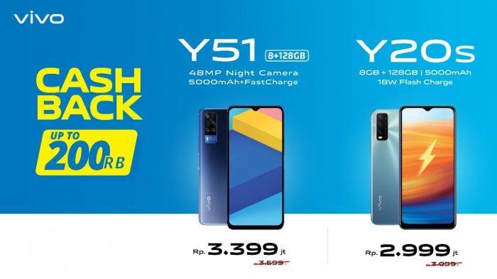 Daftar Harga Handphone Maret 2021: Vivo Y51 dan Y20S Kian Terjangkau, Program Cashback Rp 200 Ribu
