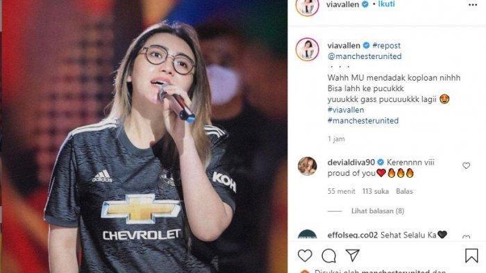 Kata Via Vallen yang Fotonya Diunggah Akun Instagram Resmi Manchester United: MU Mendadak Koplo