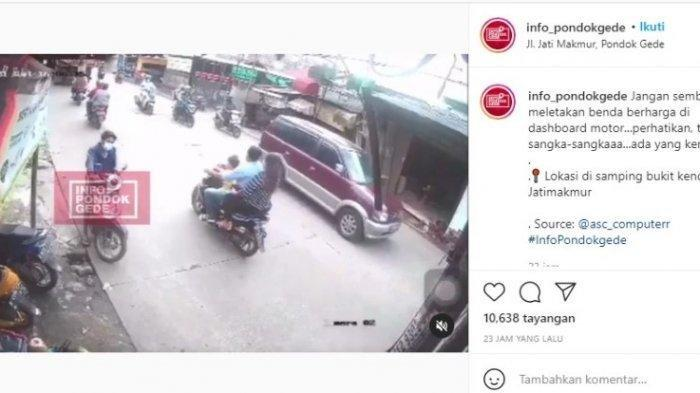 Lagi ! Viral Pencuri HP Beraksi Sambil Ajak Anak Istrinya di Pondok Gede
