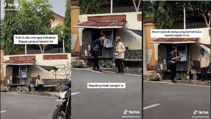 Viral Video Penjual Bensin Eceran di Mojokerto Gratiskan Dagangannya untuk Bantu Seorang Pria