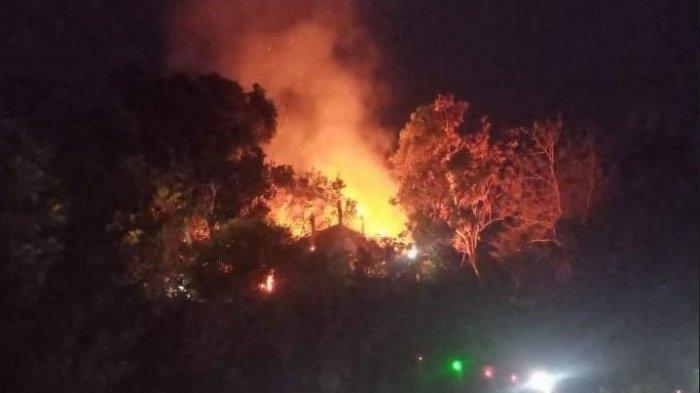 Vila Lembah Bukit Hijau Kabupaten Serang Hangus Terbakar, Diduga Akibat Konsleting Listrik