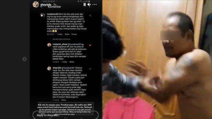 Viral seorang anak minta tolong di Instagram karena diduga telah disiksa ayahnya