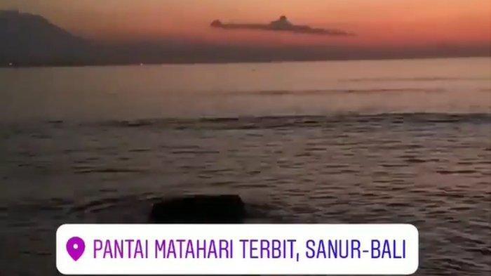 Viral Awan Mirip Kapal Selam di Bali, Direkam Saat Sunrise di Pantai Matahari Terbit Sanur