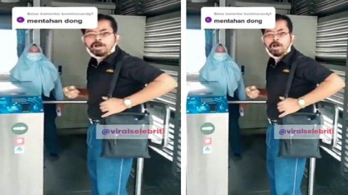 Viral Pria Ngamuk Dilarang Naik TransJakarta Karena Pakai Masker Scuba, Warganet Berdebat