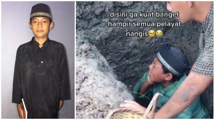 Viral Bocah Azan Sambil Menangis di Liang Lahat Saat Pemakaman Ayahnya
