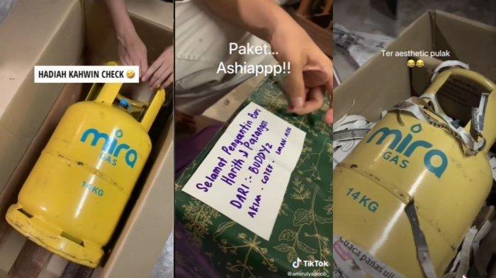 Viral Datang ke Pernikahan Teman Bawa Kado Tabung Gas Kosong, Ingin Berikan Hadiah Paling Besar
