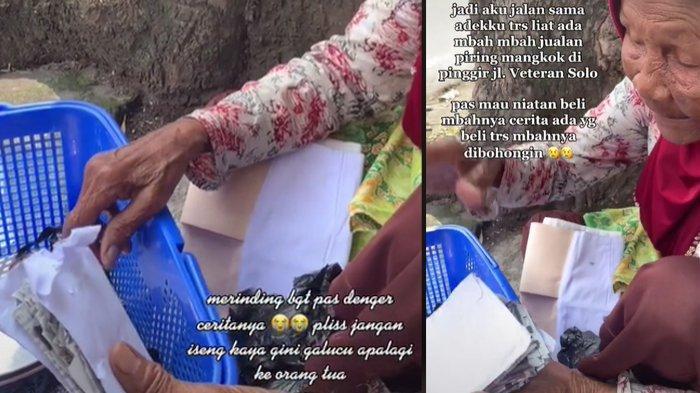 Viral Video Nenek Penjual Piring Ditipu, Diberi Amplop Tebal Ternyata Isinya Kertas Koran