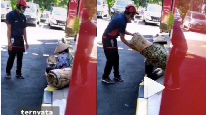 Viral Video Pegawai KFC Minta Nenek Penjual Tikar Lakukan Ini, Dikira Mengusir, Aksinya Tuai Pujian