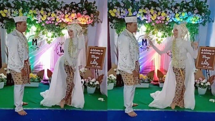 Viral Pengantin Wanita Joget TikTok saat Acara Pernikahan, Begini Reaksi Suami saat Diajak Goyang