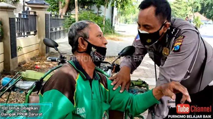 Viral Polisi Minta 100 Tukang Ojek dan Becak Pulang ke Rumah setelah Bagi-Bagi Uang Total Rp 10 Juta