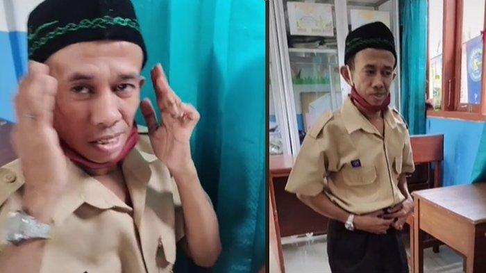 Viral Pria Disabilitas 32 Tahun Tetap Semangat Bersekolah dengan Seragam Lengkap