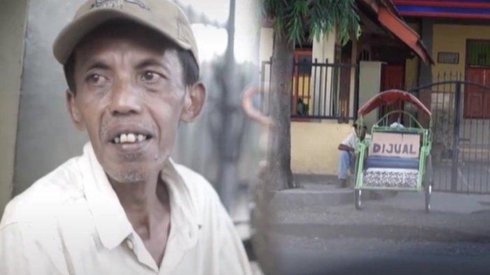 Viral Seorang Bapak Rela Jual Becak dan Jadi Pengangguran Demi Belikan Kado HP untuk Anaknya