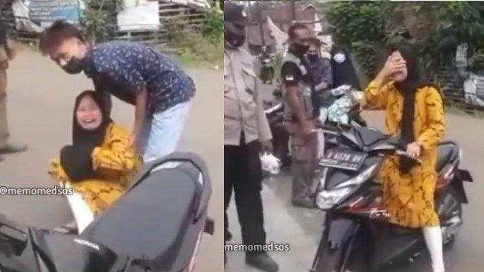 Viral Video Pengendara Motor Wanita Ngamuk dan Nangis di Jalan, Sempat Berkata Kasar kepada Petugas
