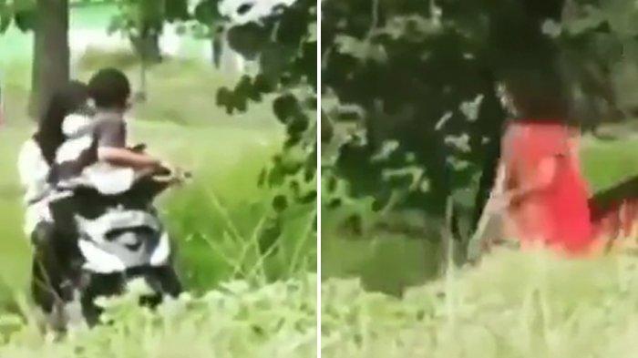 Viral Video Detik-detik Diduga ODGJ Kejar Pasangan ABG yang Sedang Asik Pelukan di Kebun