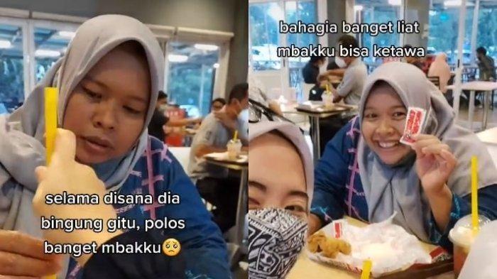 Viral ART Makan di KFC untuk Pertama Kalinya, Majikan Ikut Bahagia: Lihat Mbakku Bisa Ketawa