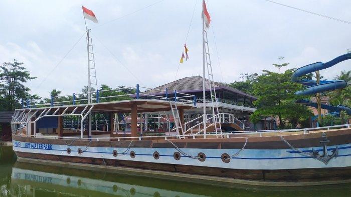 Wahana Waterpark Bina Insan Mandiri (BIM) di Rangkasbitung, Lebak.