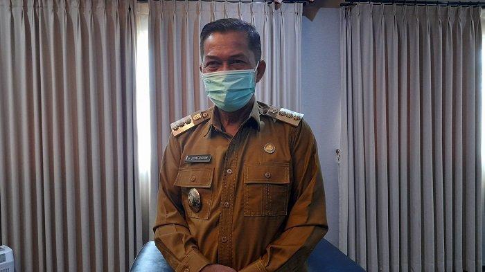 Wali Kota Serang Syafrudin di kantornya, Jalan Jenderal Sudirman nomor 5, Sumurpecung, Kecamatan Serang, Kota Serang, Senin (26/7/2021).