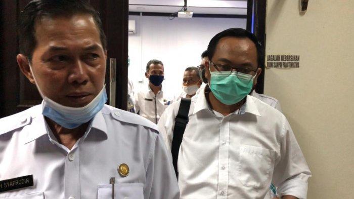 Wali Kota Serang Syafrudin di Puspemkot Serang, Rabu (27/1/2021).