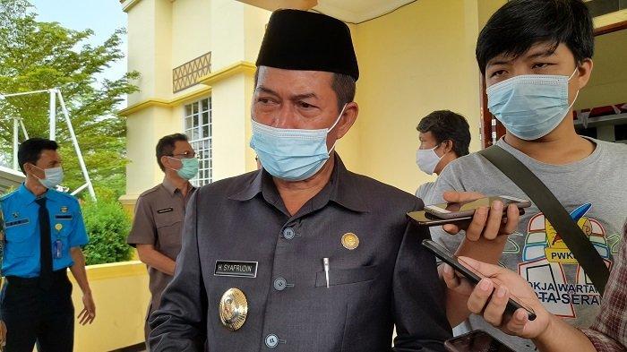 Wali Kota Serang Syafrudinsaat ditemui di Gedung DPRD Kota Serang, Kamis (10/6/2021).