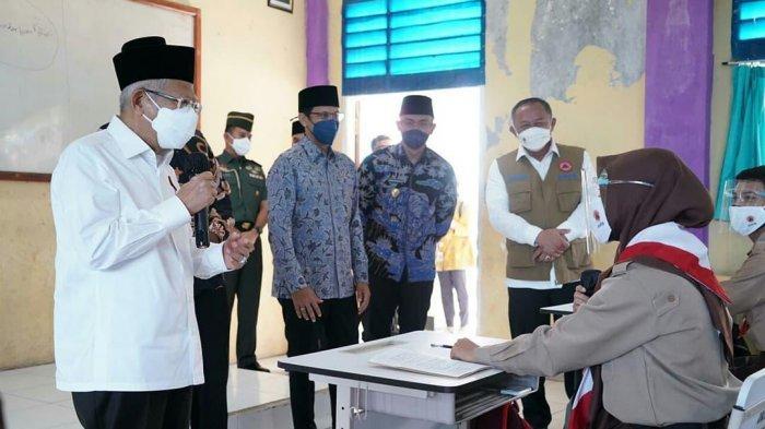 Wagub Banten Andika Hazrumy Laporkan Pelaksanaan PTM kepada Wapres, Hampir 100% Guru Sudah Vaksin