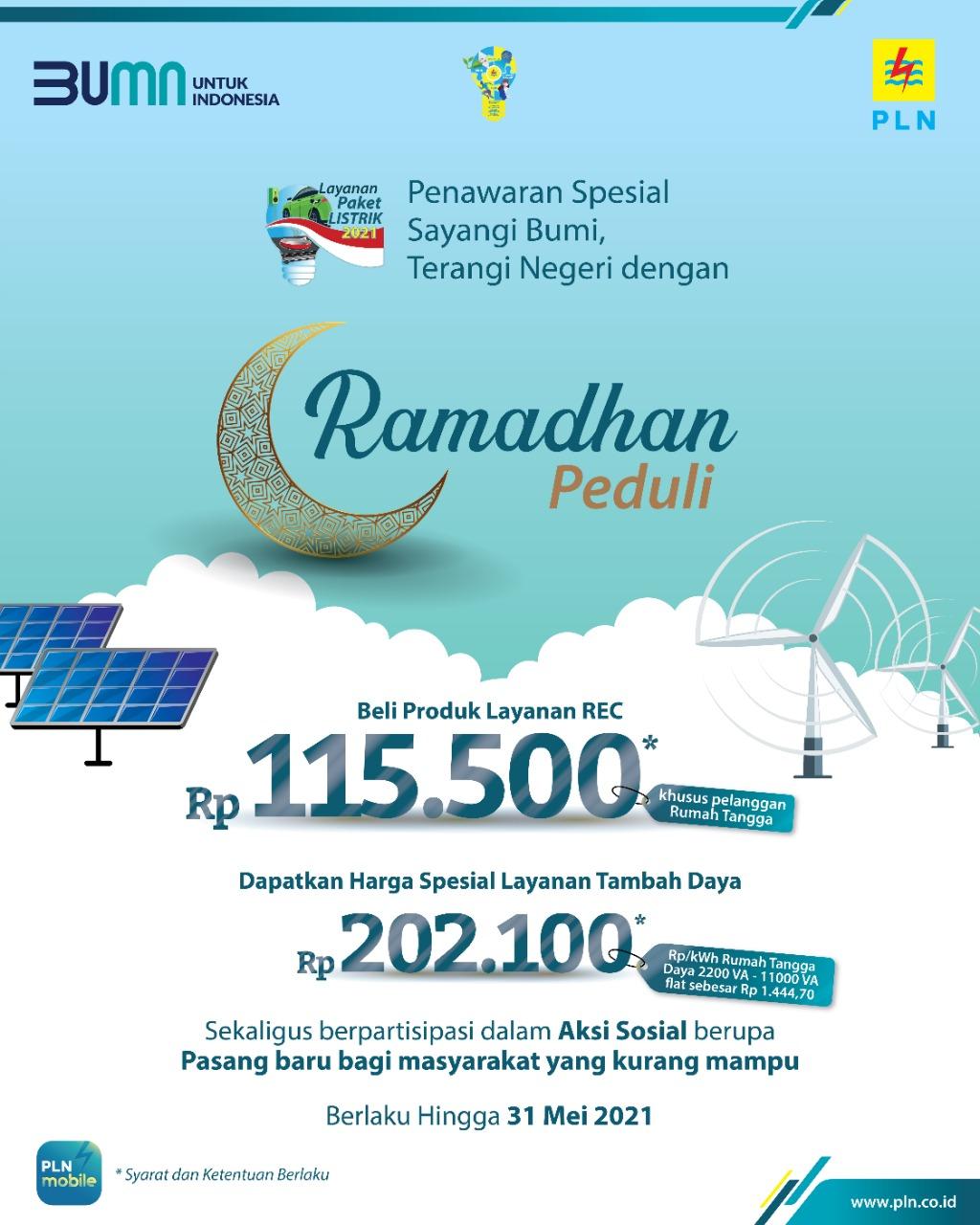 Hingga 31 Mei 2021, masyarakat Banten masih dapat menikmati promo tambah daya listrik dari PLN.
