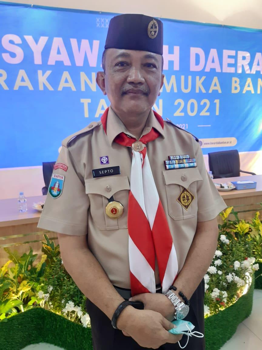Septo Kalnadi terpilih sebagai ketua Kwartir Daerah (Kwarda) Banten.