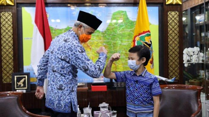 Ganjar Dapat Kado dari Abe, Novel Siswa SD Terang Bangsa Semarang, Judulnya Liga Pejuang Cilik