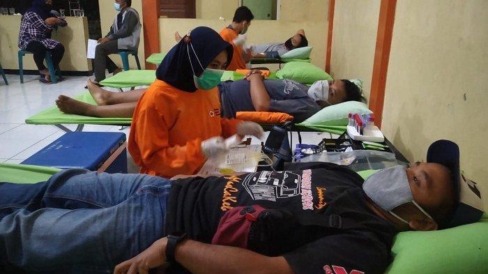 Permatif Karangmangu Banyumas Gelar Donor Darah di Tengah Pandemi Covid, Terkumpul 32 Kantong