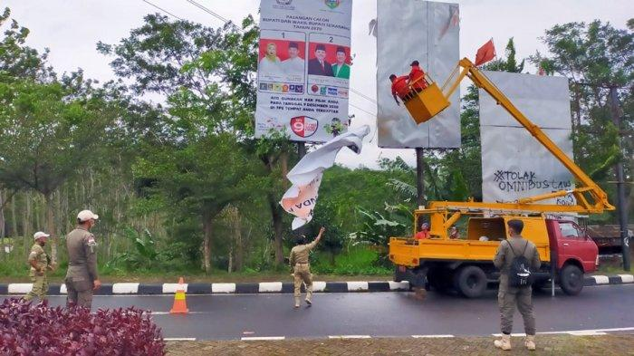Masa Tenang Kampanye Pilkada, 8.534 APK Ditertibkan di Kabupaten Semarang