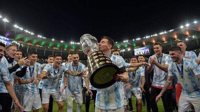 Kalahkan Brazil 1-0, Argentina Raih Gelar Copa America 2020. Penantian Messi 16 Tahun Terbayar