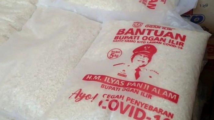 Viral Foto Bantuan Beras 5 Kg Bergambar Wajah Bupati, untuk Warga Terdampak Corona