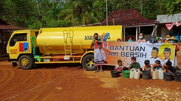 Bantu Atasi Kekeringan di Jateng, PKS Kirim 76 Tangki Air Bersih ke Wonogiri