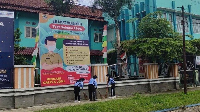 Cegah Klaster Sekolah, Dinkes Banjarnegara Lakukan Tes Antigen Acak di Sekolah Pelaksana PTM