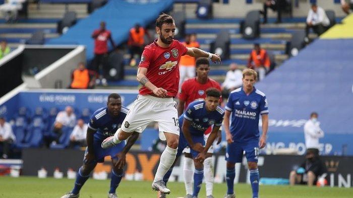 Tendangan Pinalti Bruno Fernandes di Menit Akhir Antar Manchester United ke Semifinal Liga Europa