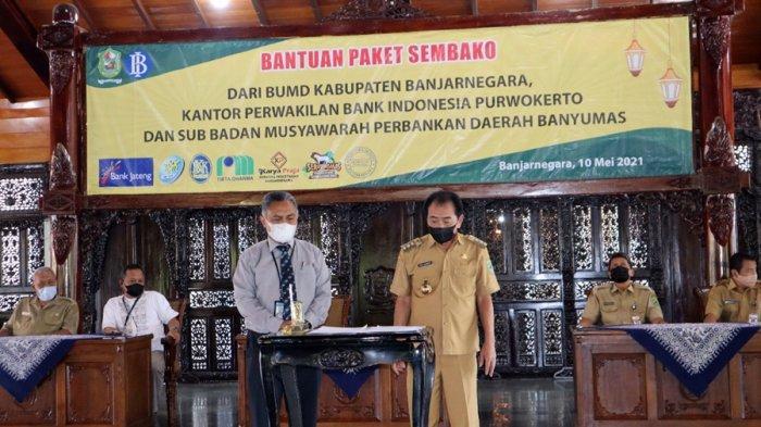 BUMN Peduli di Banjarnegara, Bantu 1.870 Paket Sembako Kepada Warga Terdampak Pandemi