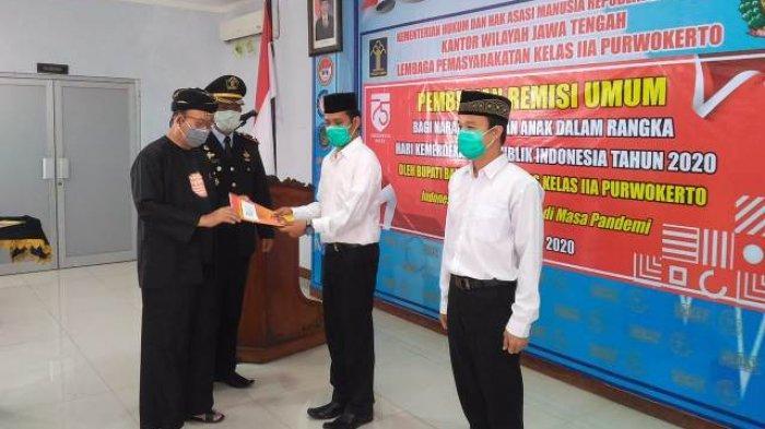 Dalam Rangka HUT RI, 426 Napi Lapas Purwokerto Dapat Potongan Masa Tahanan
