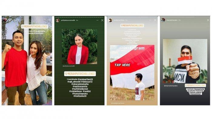 Ayo Tantang Temanmu Pasang Stiker #MerahPutihChallenge di Instagram, Begini Caranya