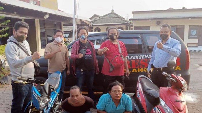 Nasib Apes Dialami Dua Maling Motor Ini, Pembeli Sudah Bersama Polisi di Bubakan Semarang