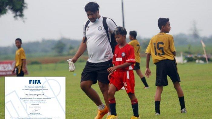 Mengenal Lebih Dekat Diky Krisnanda, Fisioterapis SPFA Pati Ini Sudah Kantongi Lisensi FIFA