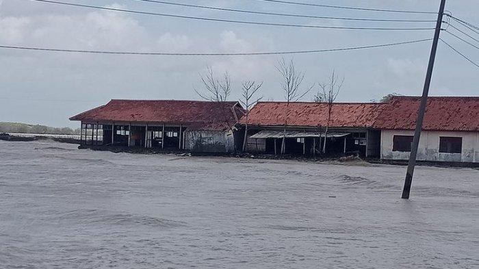 Lima Rumah Roboh dan Puluhan Lain Rusak Diterjang Gelombang 1,5 Meter di Sayung Demak