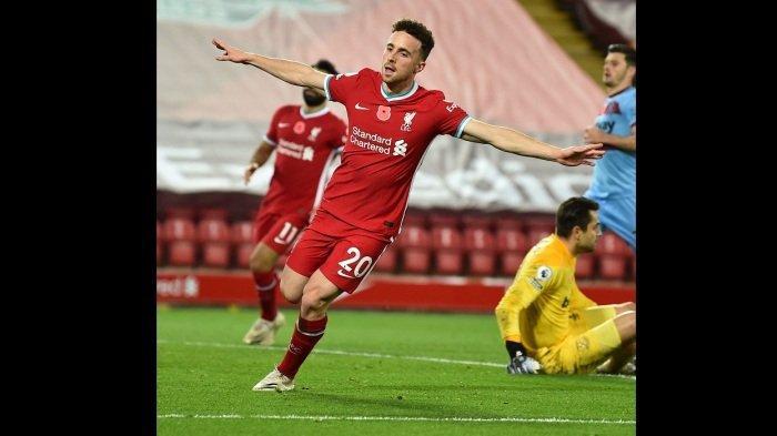 Jadi Penyelamat di Laga Kontra West Ham United, Diogo Jota Bawa Liverpool Puncaki Klasemen Sementara