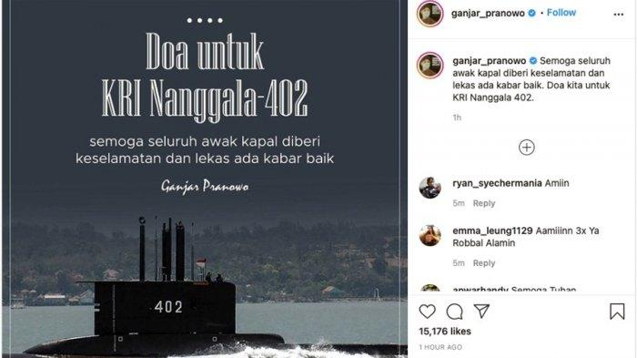 Pencarian Kapal Selam KRI Nanggala-402 di Perairan Bali, Ini Doa Gubernur Ganjar Pranowo