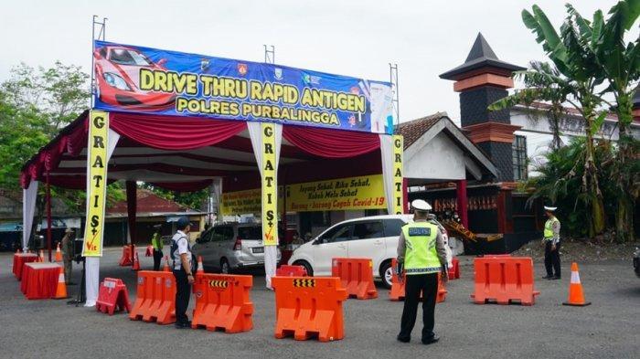 Silakan Manfaatkan Layanan Drive Thru Polres Purbalingga, Tes Antigen Gratis di Jompo Kalimanah