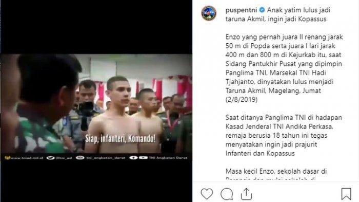 Kepada Prabowo, Ezno Taruna Akmil Keturunan Prancis Mengaku Ingin Masuk Kopassus: 'Siap, Komando!'