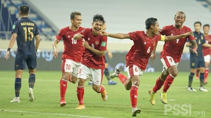 Raih Poin Perdana, Indonesia Tahan Imbang Thailand 2-2 di Kualifikasi Piala Dunia 2022