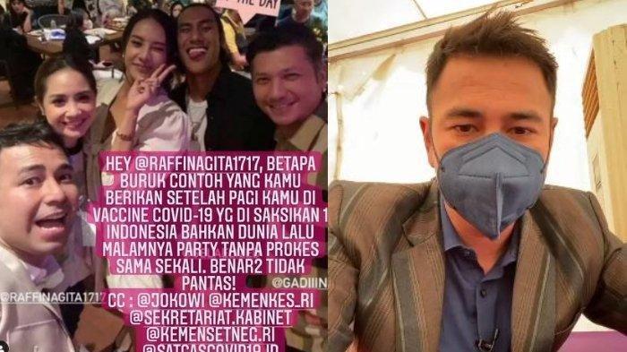 Berkerumun Tak Pakai Masker Beberapa Jam Seusai Divaksin Covid, Raffi Ahmad Ditegur Istana Negara